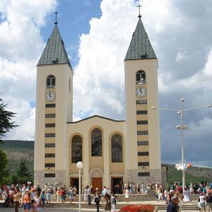 Međugorje, poznato rimokatoličko središte