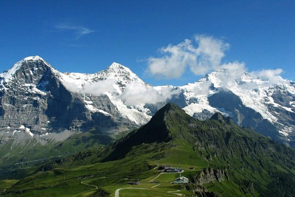 Jungfrau, područje masivnih ledenjaka