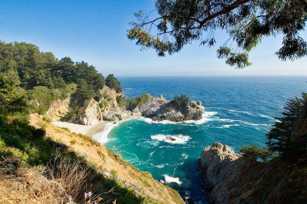 plaža u kaliforniji